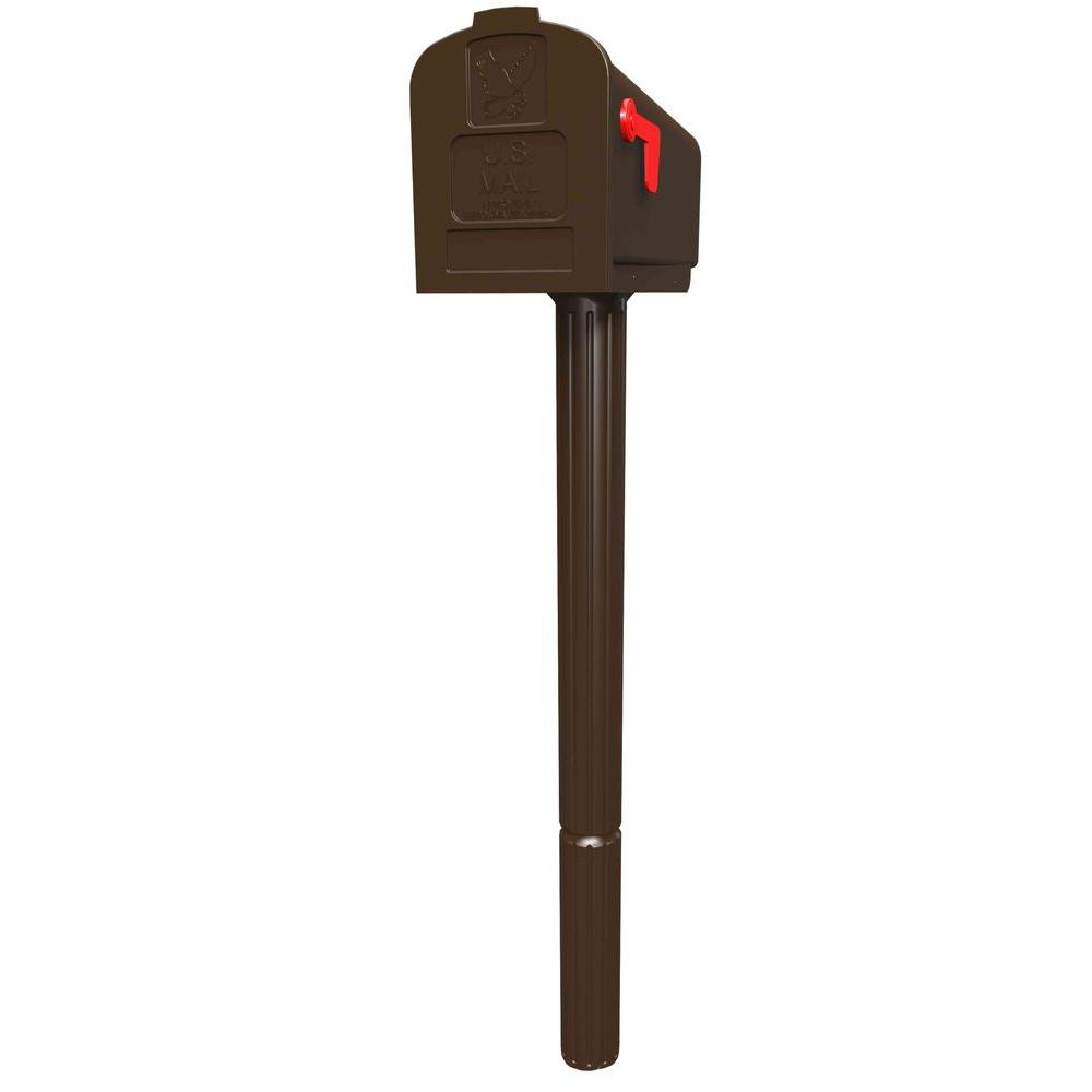 Gibraltar Mailboxes Harrison All-in-One Venetian Bronze Mailbox and Post Combo