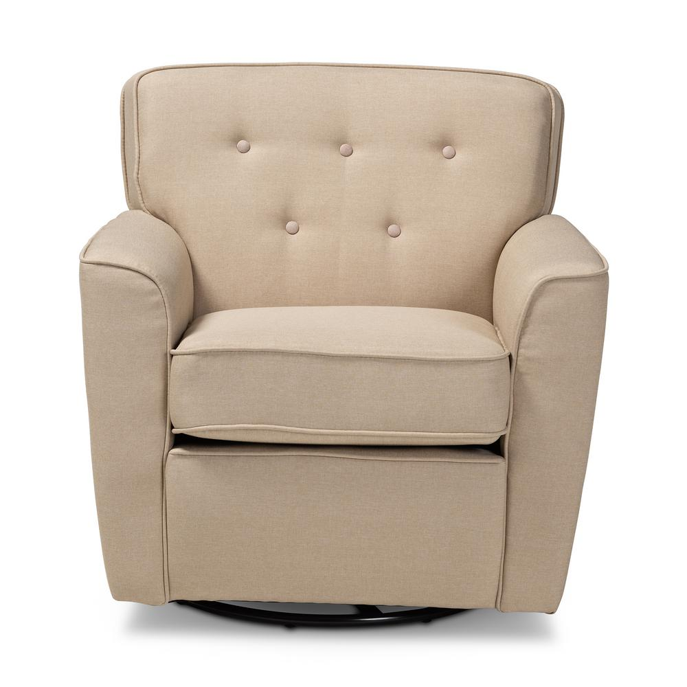 Canberra Beige Fabric Armchair