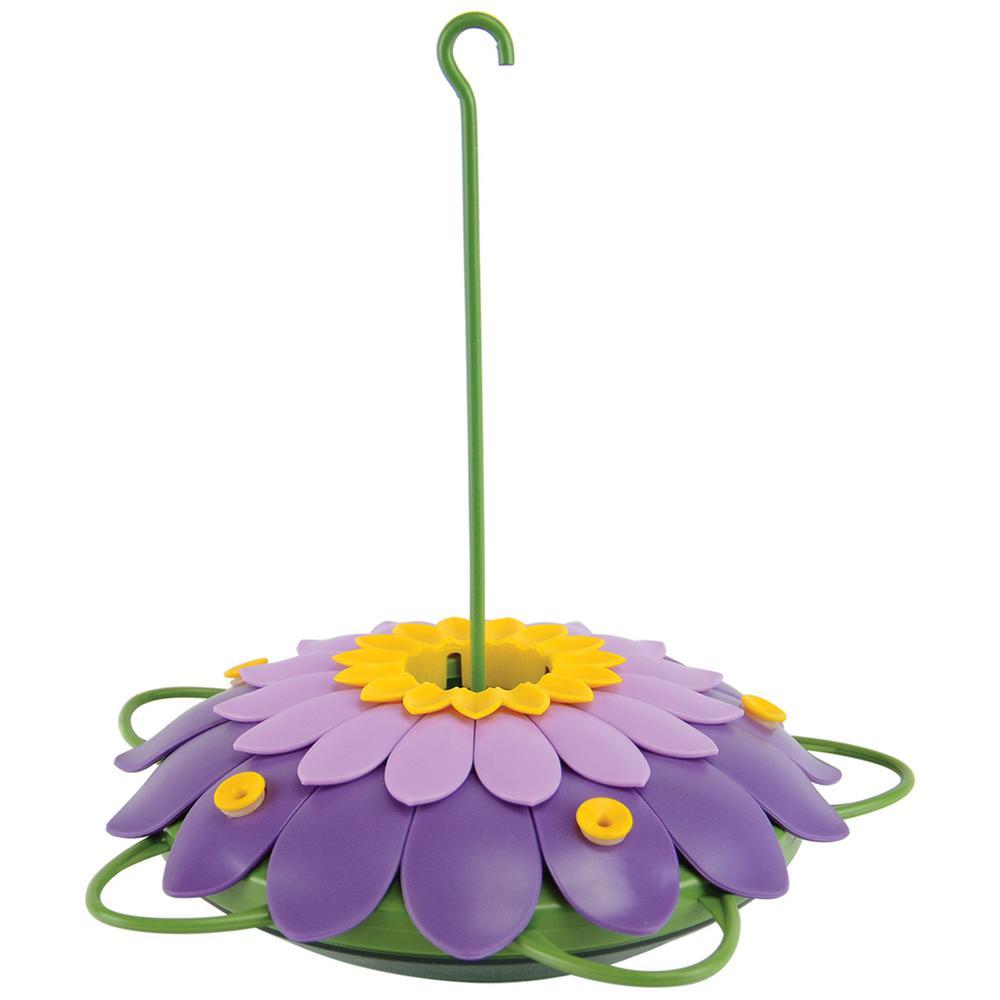 So Real 3D Purple Single Flower Hummingbird Feeder