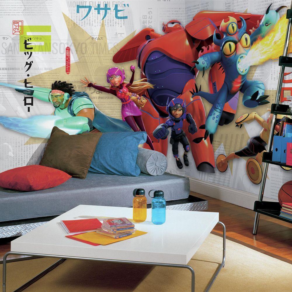 RoomMates 72 in. x 126 in. Big Hero 6 XL Chair Rail Prepa...