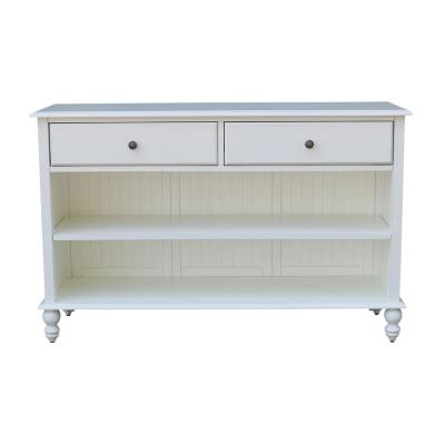 Cottage Beach White 2-Drawer Console Table