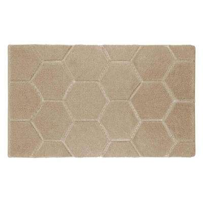 Pearl Honeycomb Berber 20 in. x 32 in. Bath Mat