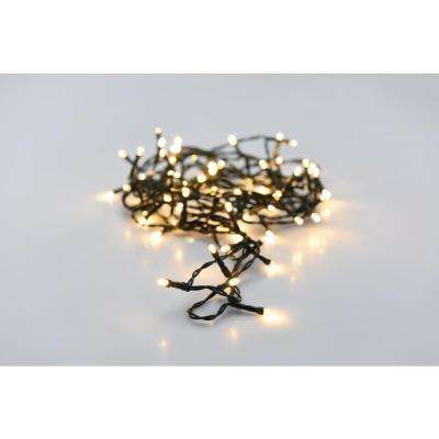 34 ft. 100-Light LED Warm White Battery Operated Decorative String Light