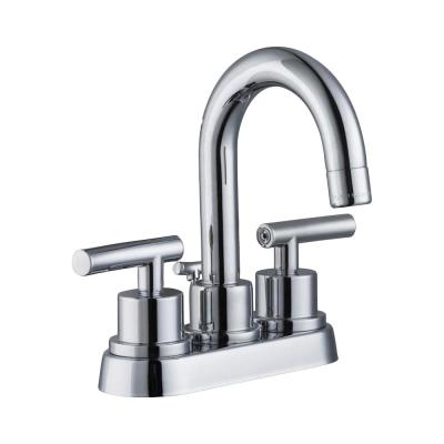 Dorset 4 in. Centerset 2-Handle High-Arc Bathroom Faucet in Chrome