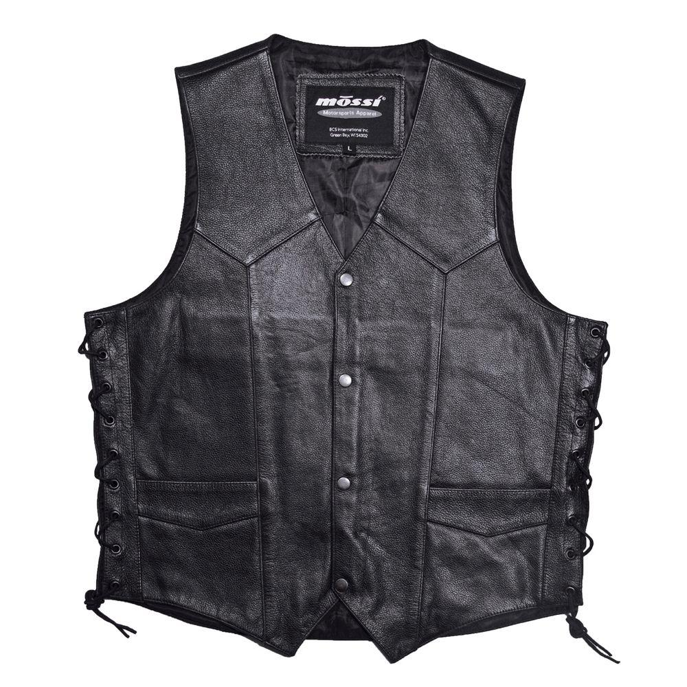 Mossi Mens Live to Ride Size 40 Black Vest-DISCONTINUED