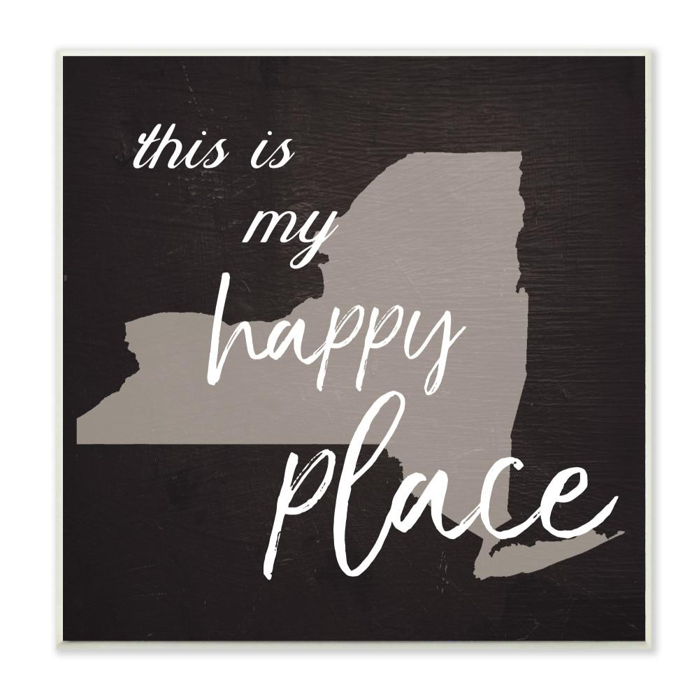 The Stupell Home D/écor Collection This is My Happy Place Massachusetts Wall Plaque Art 7 x 17 Stupell Industries cw-1258/_wd/_7x17