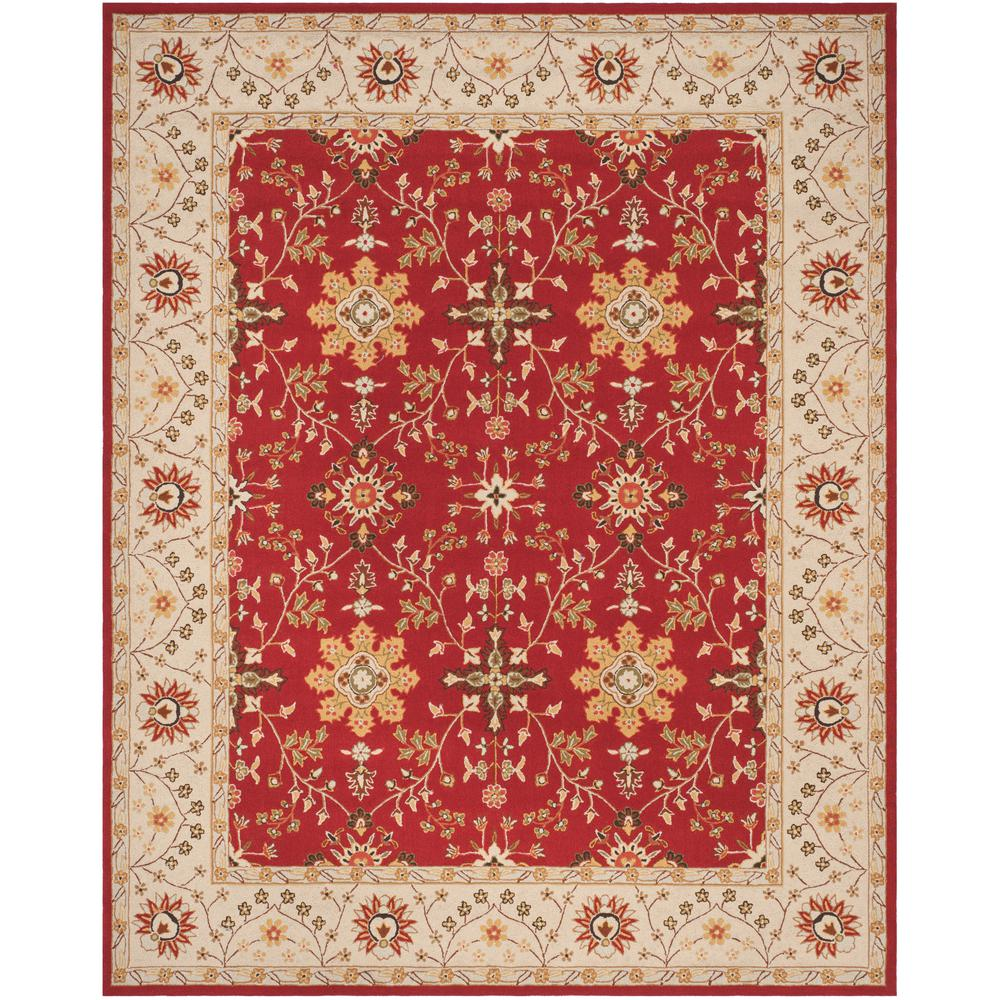 Safavieh Easy Care Red Ivory 8 Ft X 10 Area Rug
