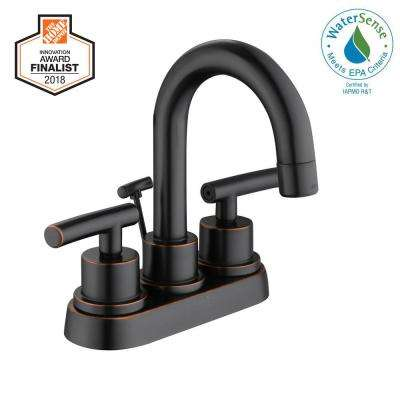 Dorset 4 in. Centerset 2-Handle High-Arc Bathroom Faucet in Bronze