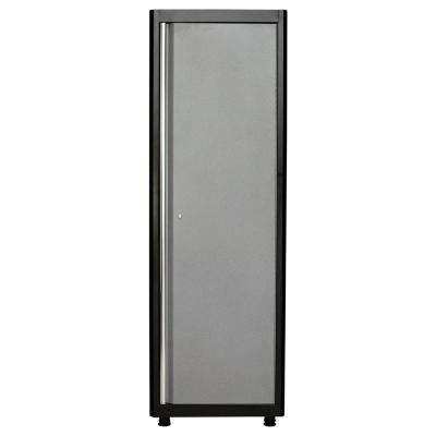 72 in. H x 24 in. W x 18 in. D Welded Steel Floor Freestanding Cabinet in Black/Multi-Granite