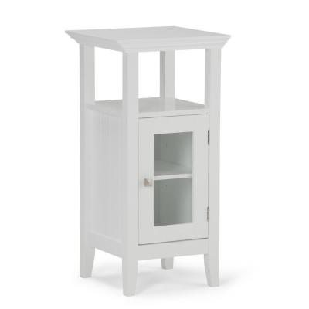 Acadian 15 in. W x 14 in. D x 30 in. H Floor Storage Bath Cabinet in White