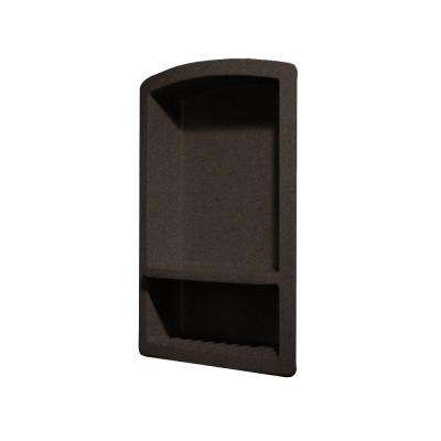 Recessed Wall Mount Solid Surface Soap Dish and Accessory Shelf in Canyon