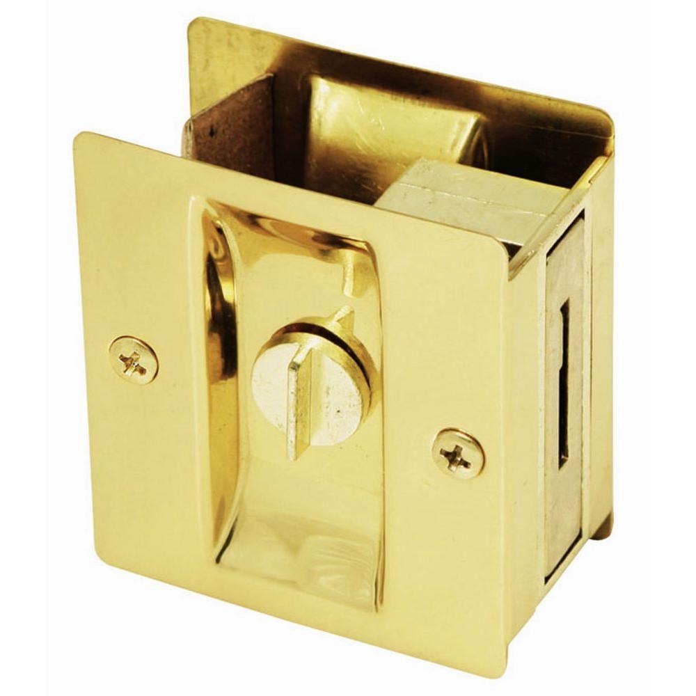 Design House Polished Brass Pocket Door Privacy Hardware
