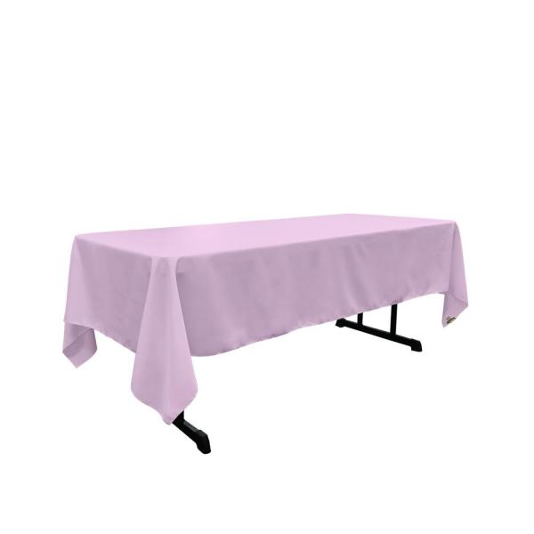 Polyester Poplin 60 in. x 102 in. Lilac Rectangular Tablecloth