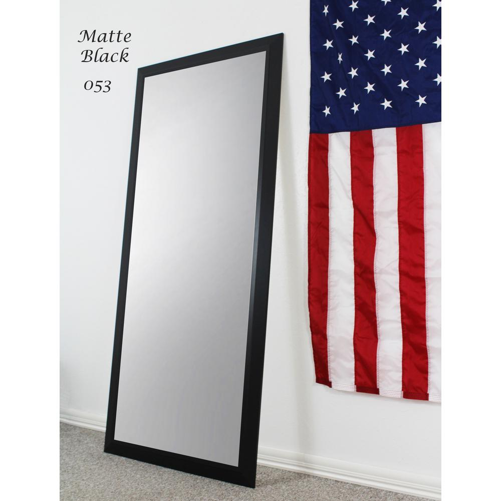 70.5 in. x 31.5 in. Matte Black Full Body/Floor Length Vanity