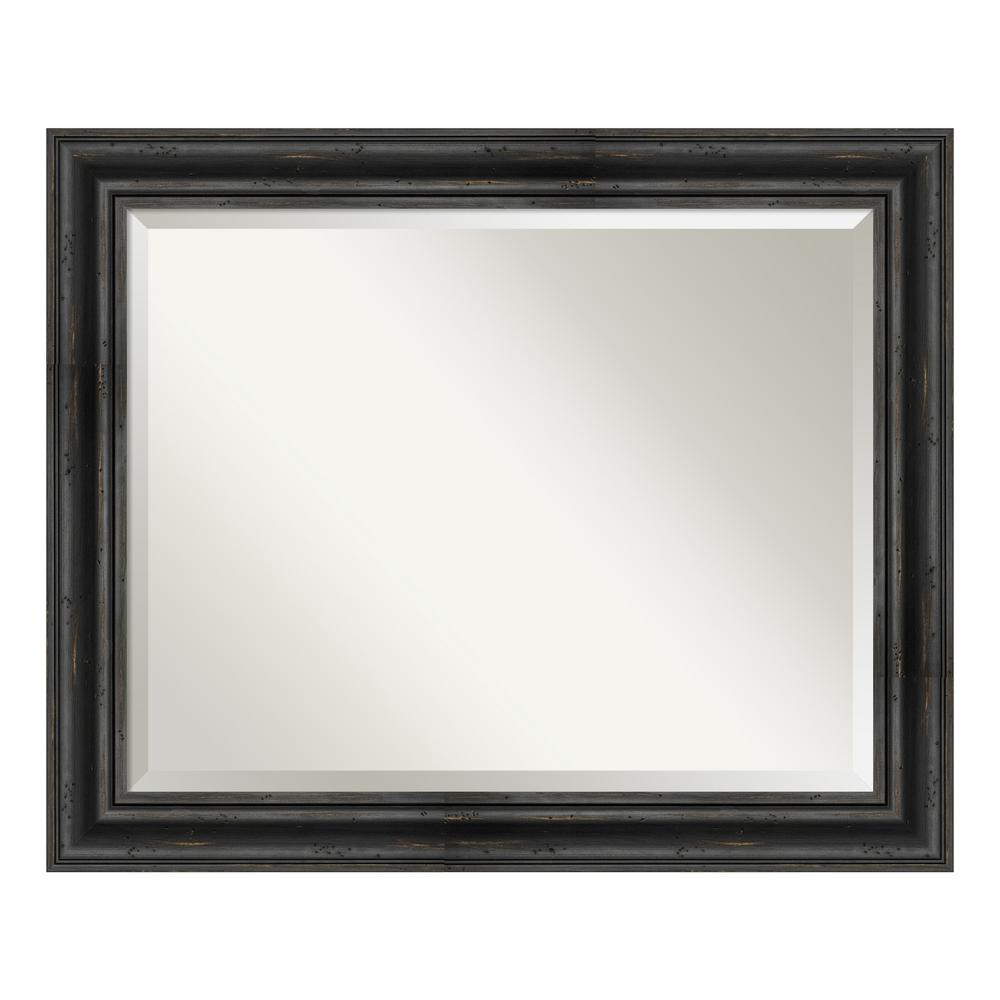 Amanti Art Rustic Pine Black Decorative Wall Mirror was $201.99 now $125.03 (38.0% off)