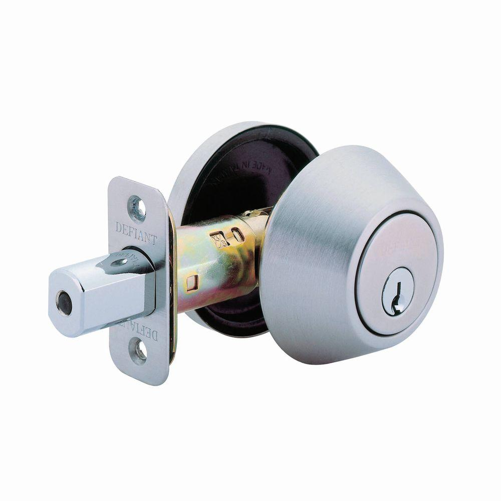 Defiant Single Cylinder Stainless Steel Deadbolt Dl61
