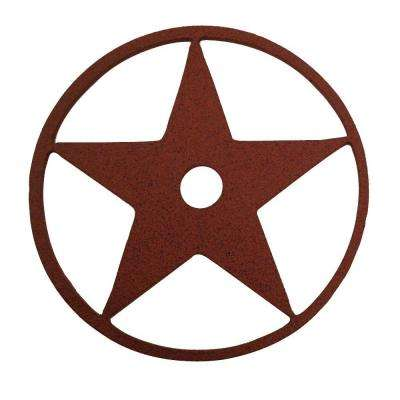 3-1/8 in. Dia Texas Star Decorative New Age Rust Roller Cover