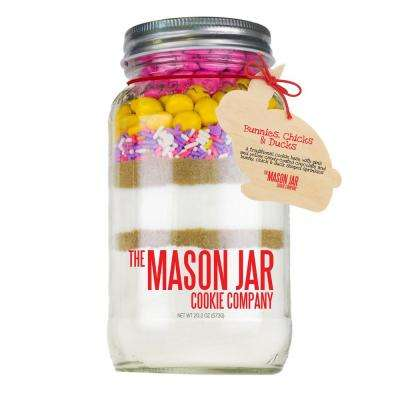 Bunnies Chicks and Ducks Cookie Mix in a Mason Jar