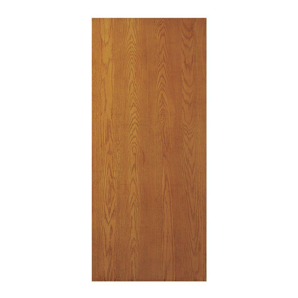 Oak Unfinished Flush Hardwood Interior Door
