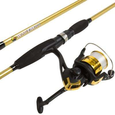 Strike Series Spinning Rod and Reel Combo in Trophy Gold