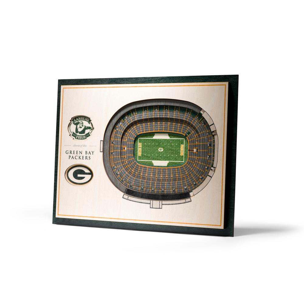 Youthefan Nfl Green Bay Packers 3d Stadiumviews Coasters 9025658 The Home Depot