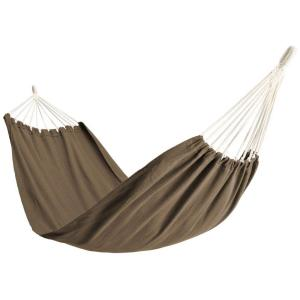 6-1/2 ft. Polyester Bag Hammock in Tan by