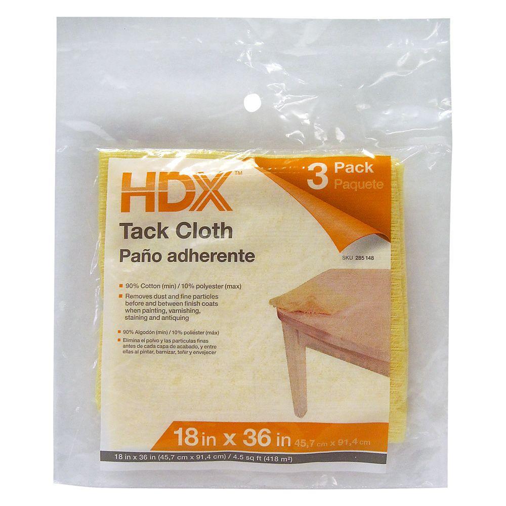 4-1/2 sq. ft. Tack Cloth, 12 Pack of 3 Cloths