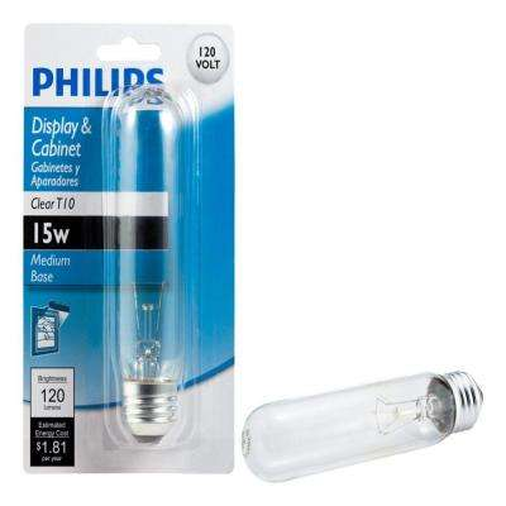 15-Watt T10 Incandescent Clear Light Bulb