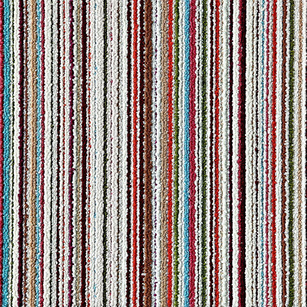 Like Minded Burgundy 19.7 in. x 19.7 in. Carpet Tile (6 Tiles/Case)