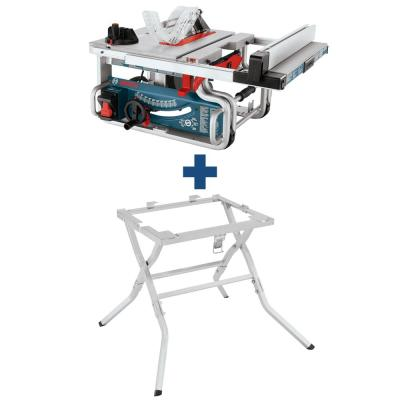 15 Amp 10 in. Corded Bench Table Saw with Carbide Blade and Bonus Table Saw Folding Stand