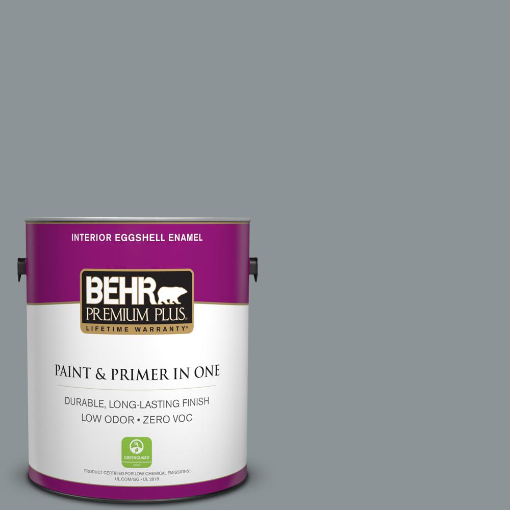 1 gal. #N450-4 Moonquake Eggshell Enamel Zero VOC Interior Paint and