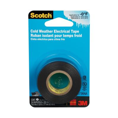 Cold Weather 3/4 in. x 25 ft. Electrical Tape, Black