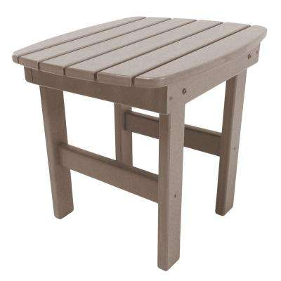 Essentials Weatherwood Square Durawood Outdoor Side Table