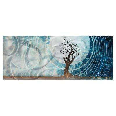 Brevium 19 in. x 48 in. Twilight Metal Wall Art