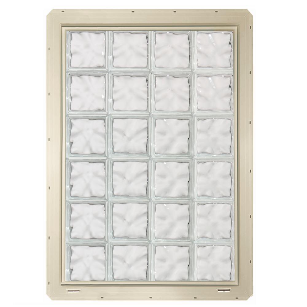 Crystalok in x in x in wave pattern for Plastic glass block windows