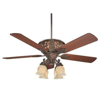 Marina 52 in. Walnut Patina Indoor Ceiling Fan