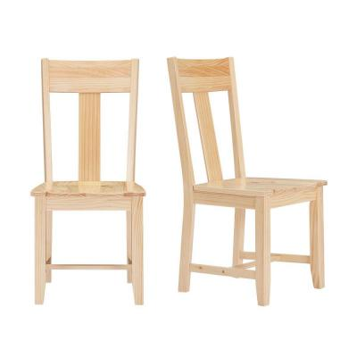 StyleWell Unfinished Wood Dining Chair (Set of 2) (17.75 in. W x 38 in. H)