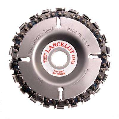 4 in. 22-Teeth Steel Chainsaw Blade for Woodcarving