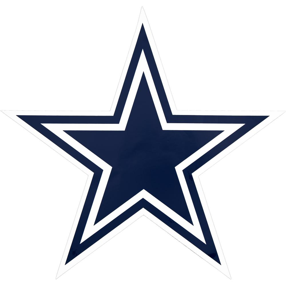 Applied Icon NFL Dallas Cowboys Outdoor Logo Graphic- Large-NFOP0903 - The  Home Depot 293bd6df6
