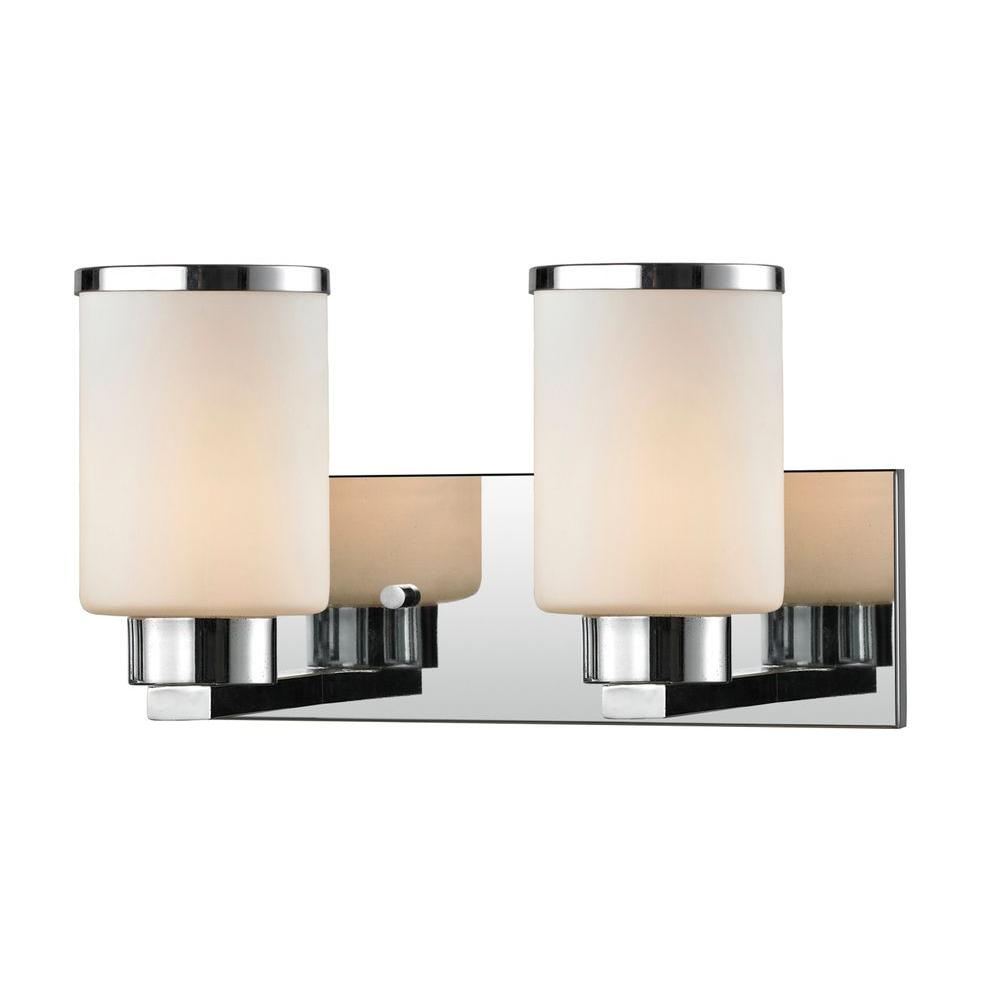 Filament Design Empire 2-Light Chrome Bath Vanity Light