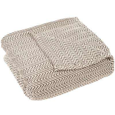 Chevron Chocolate 100% Egyptian Cotton King Blanket