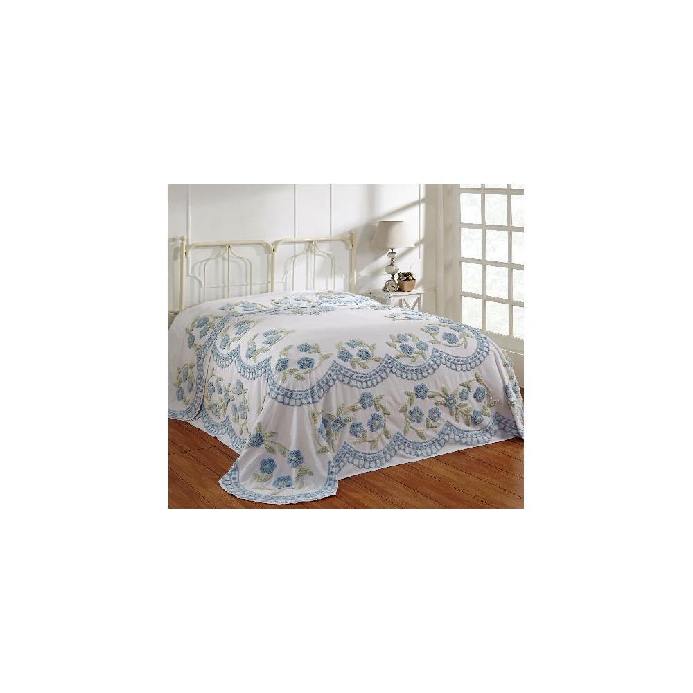 Better Trends Bloomfield 1-Piece Blue Queen Bedspread SS-BSBFTWRO