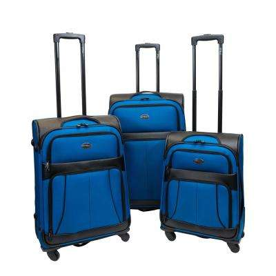 Odyssey 3-Piece Empire Blue Luggage Set