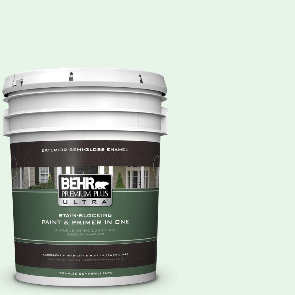 BEHR Premium Plus Ultra 5-gal. #450C-1 Dinner Mint Semi-Gloss Enamel Exterior Paint