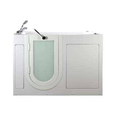 60 in. Lounger Acrylic Walk-In Whirlpool and Air Tub in White, LHS Outward Swing Door,Digital Control, TCV Faucet