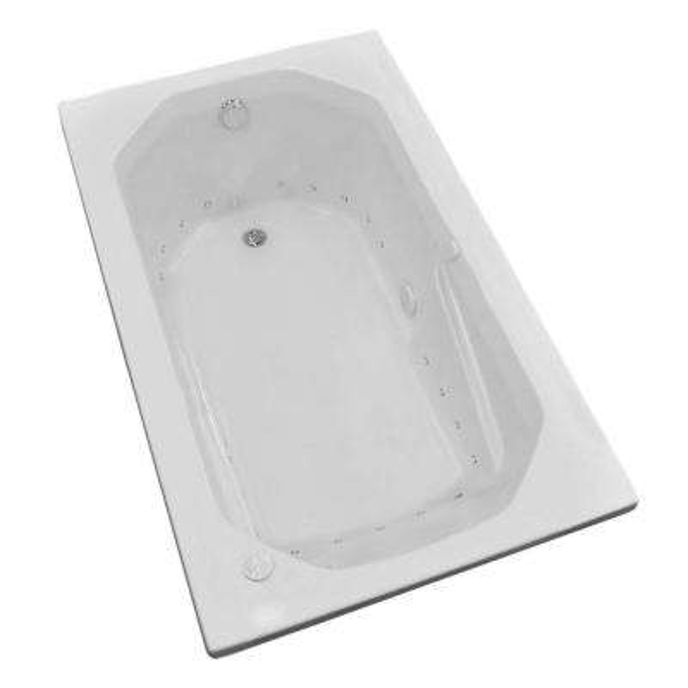 Onyx 59.75 in. Rectangular Drop-in Whirlpool Air Bath Tub in White