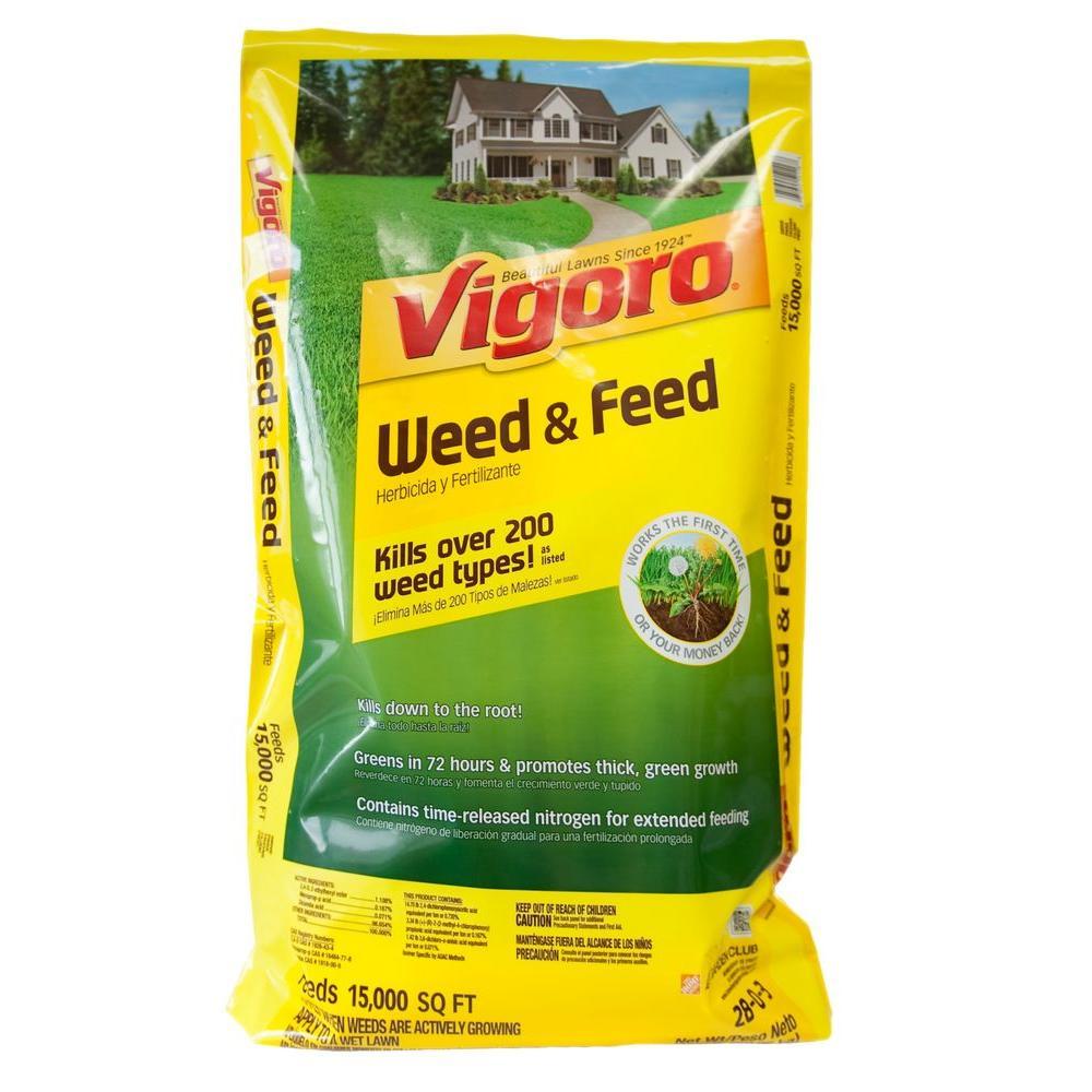 Vigoro 42 Lb 15 000 Sq Ft Weed And Feed Lawn Fertilizer