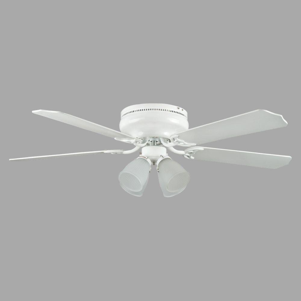 Montego Bay Deluxe Series 52 in. Indoor White Ceiling Fan