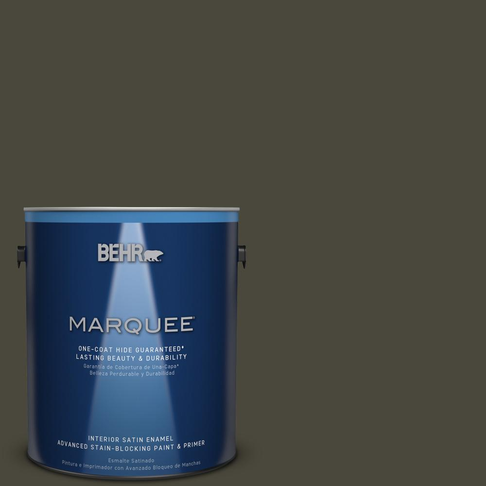 1 gal. #PPU24-01 Black Mocha Satin Enamel Interior Paint