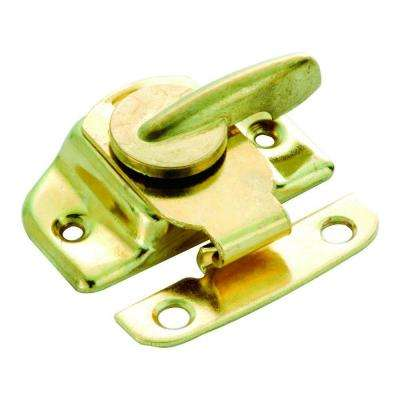 Cam Action Polished Brass Clamp-Tight Sash Lock